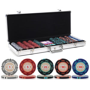 500 pc. 14g Casino Royale Poker Chip Set with Aluminum Case