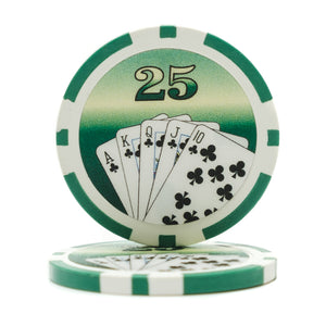 11.5 Gram Royal Flush Poker Chips (25/Pkg)