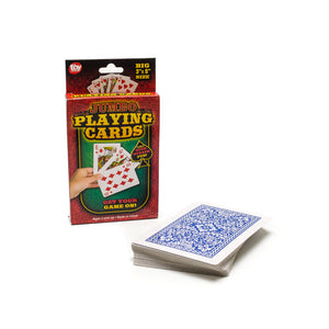 3 x 5 Jumbo Plastic Coated Playing Cards
