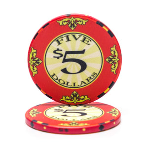Scroll Ceramic Poker Chips - 10 Gram (25/Pkg)