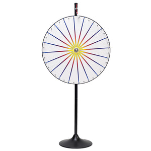 White Prize Wheel With Stand & Base