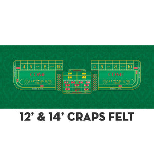 Monaco - Craps Layout - GREEN - Casino Supply - 5
