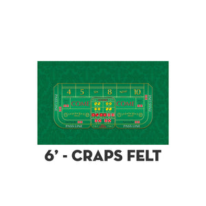 Monaco - Craps Layout - GREEN - Casino Supply - 2
