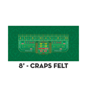 Monaco - Craps Layout - GREEN - Casino Supply - 3
