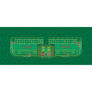 Monaco - Craps Layout - GREEN - Casino Supply - 1