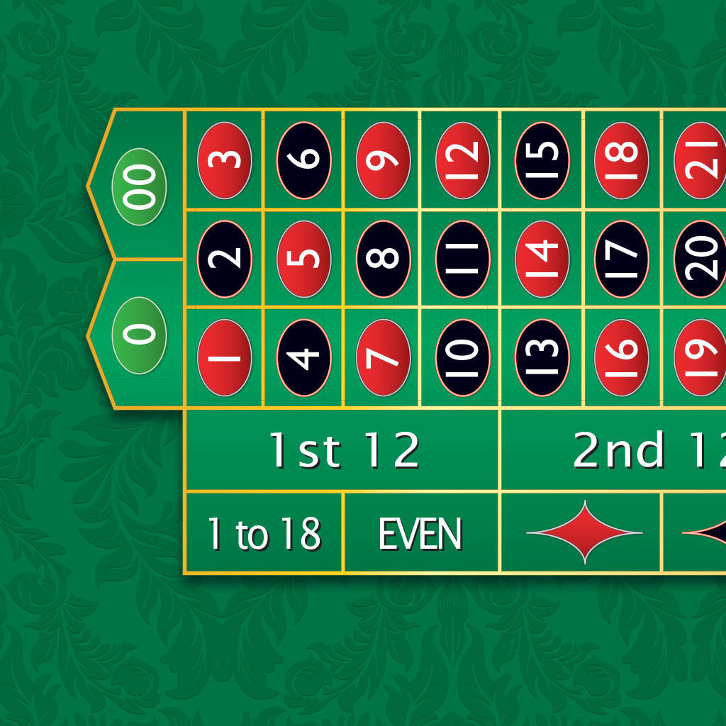 Monaco - Roulette Table Layout - GREEN - Casino Supply - 1