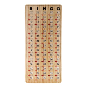 Master-board Stitched Wood Grain Bingo Slide Card - Casino Supply