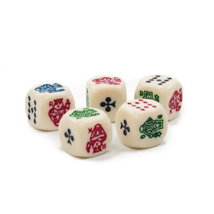 Poker Dice 5/8 Inch (Pkg./5) - Casino Supply