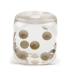 Acrylic Transparent Dice - 70 mm / 2.75 inch -  Sold Individually - Casino Supply - 2