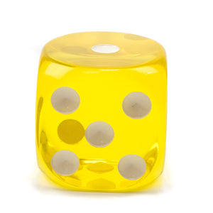 Acrylic Transparent Dice - 70 mm / 2.75 inch -  Sold Individually - Casino Supply - 3
