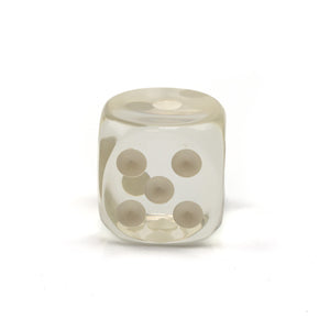 Acrylic Transparent Dice - 50 mm / 2 inch -  Sold Individually - Casino Supply - 4