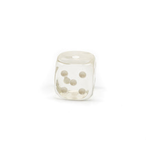 Acrylic Transparent Dice - 30 mm / 1.25 inch -  Sold Individually - Casino Supply - 2