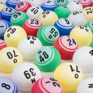Bingo Balls - Professional Style Colored Single Sided 1.5 Inch