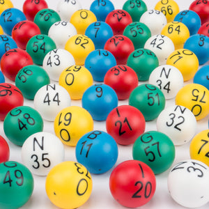 Senior Friendly Easy Read Bingo Balls - 7/8 inch - Casino Supply - 1