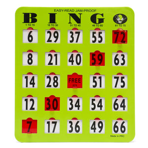 Bingo Easy Read Shutter Slide Cards
