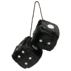 Fuzzy 3 inch Car Dice - Priced Per Pair