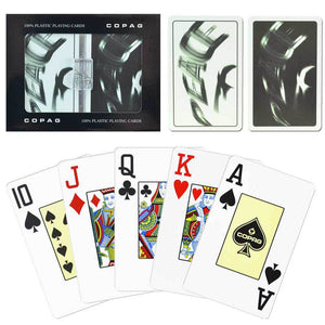 Copag Peace Black & White  Narrow - Jumbo Index  Playing Cards - Casino Supply