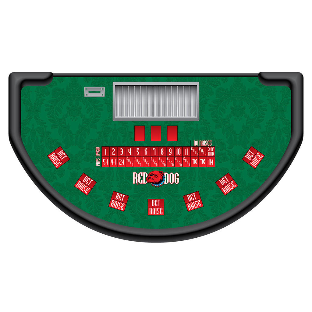 Monaco - Red Dog Table Layout - GREEN - Casino Supply - 1