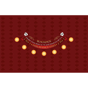 Spade Design Blackjack Layout - BURGUNDY