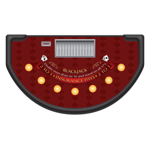 Spade Design Blackjack Layout - BURGUNDY - Casino Supply - 1