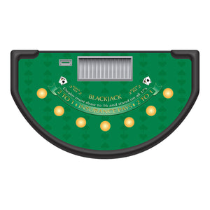 Spade Design Blackjack Layout - GREEN - Casino Supply - 1