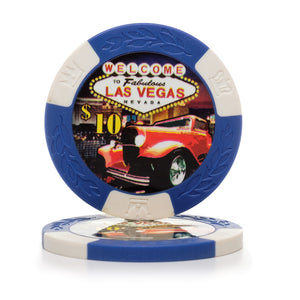 11.5 Gram Classic Car Poker Chips (25/Pkg)