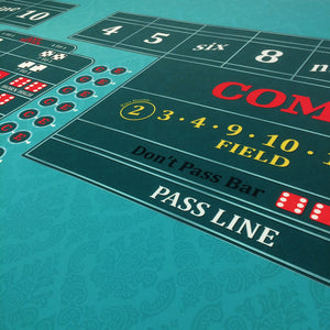 Classic Craps Layout - TEAL - Casino Supply - 5