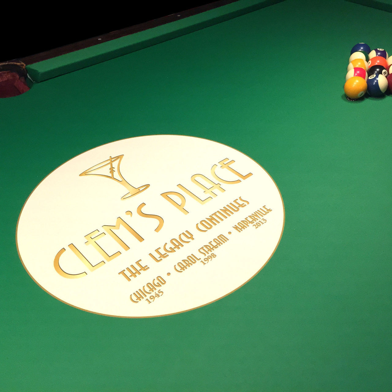 ... Custom Pool Table Felt With Matching Rails   Casino Supply   2 ...