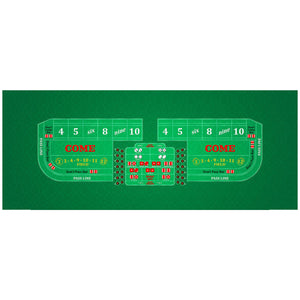 Classic Craps Layout - GREEN - Casino Supply - 1