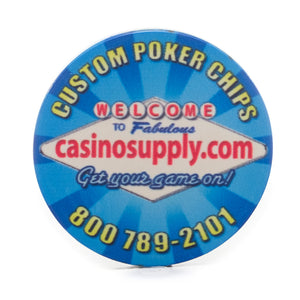 Custom 10 Gram CasinoTek Ceramic Chips (25/Pkg)
