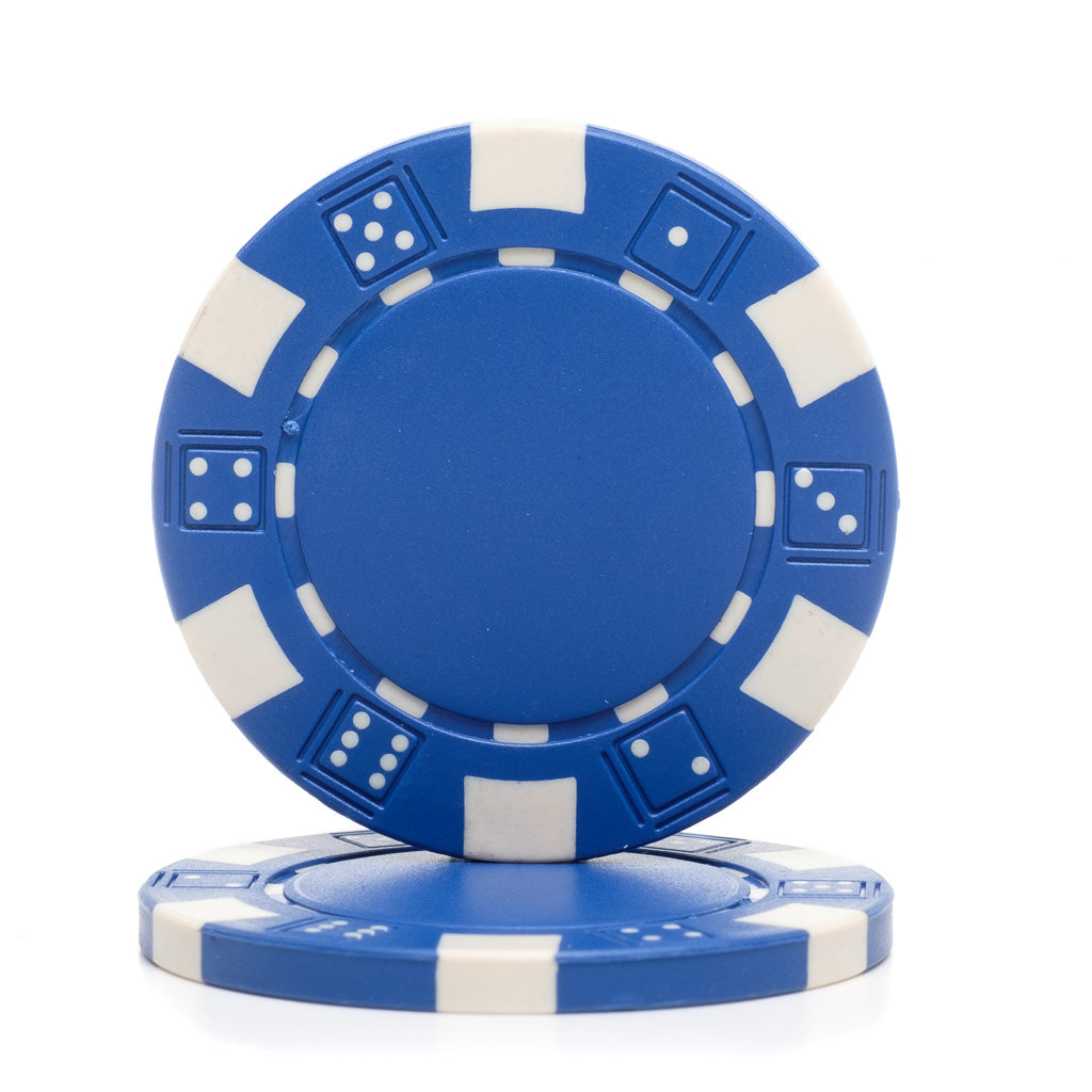 25 Blue Dice Mold 11.5 gram Clay Composite Poker Chips