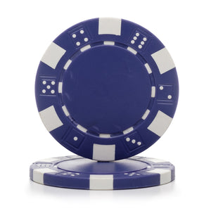 11.5 Gram Dice Rim Poker Chips (25/Pkg)