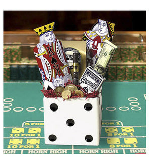 White Folding Dice Box 6 Inch - Casino Supply - 2