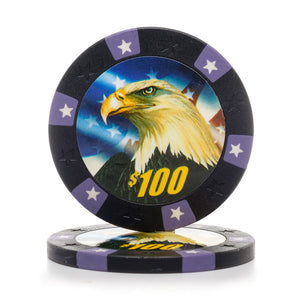 11.5 Gram Eagle Poker Chips (25/Pkg)