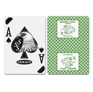 Great Wall New Uncancelled Casino Playing Cards - Casino Supply