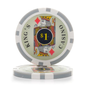 11.5 Gram Kings Poker Chips (25/Pkg)