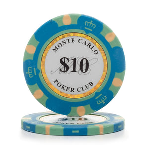 Monte Carlo 14g 3 Tone Holographic Poker Chips (25/Pkg)