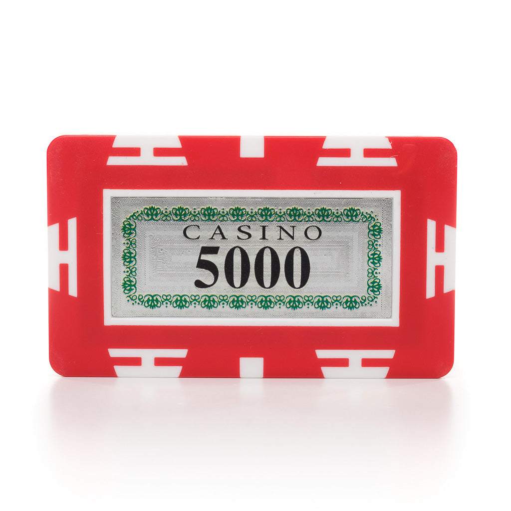 European Style Rectangular 32g Holographic Poker Plaques (each)