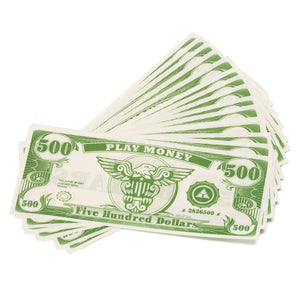 Paper Play Money Bulk (1000/Pkg) Click for Denominations - Casino Supply