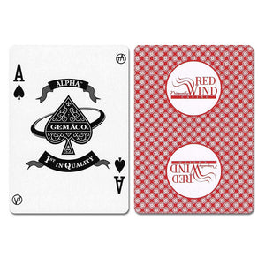 Red Wind New Uncancelled Casino Playing Cards - Casino Supply
