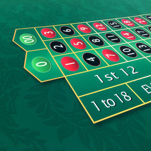 Monaco - Roulette Table Layout - GREEN - Casino Supply - 3