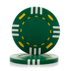 12 Gram Triple Striped (Tri Color) Poker Chips (25/Pkg)