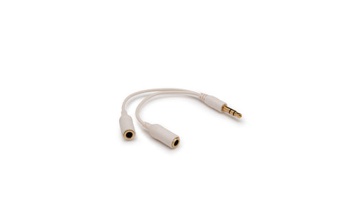 Stereo Headphone Splitter - White