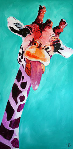 Willow - Giraffe Painting