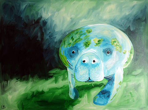 Martha - Manatee Painting - SALE