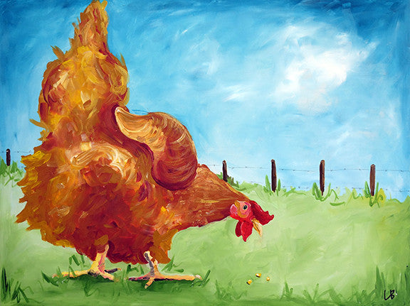 Butterscotch - Chicken Painting