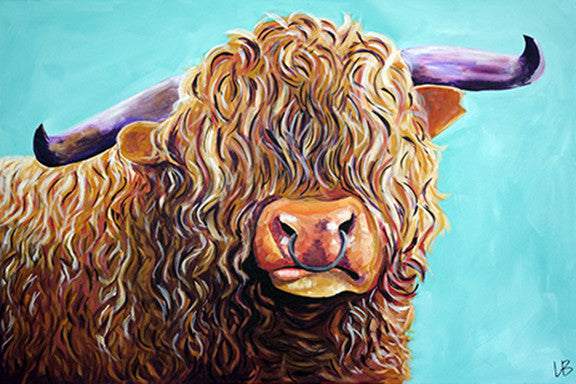 Brutus - Highland Cow Painting
