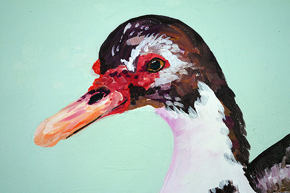 Samantha - Duck Painting
