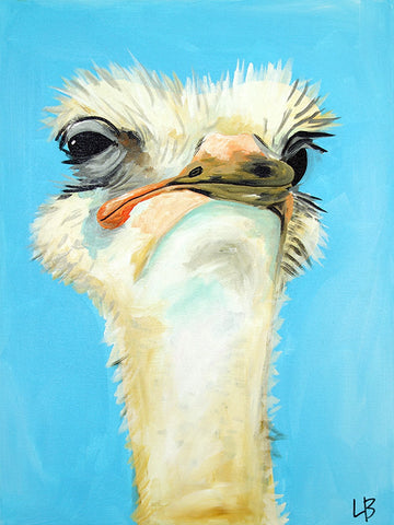 Effie - Ostrich Painting