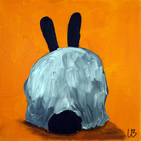 Bunny Bottom V - Rabbit Painting